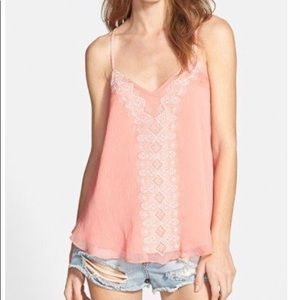 Lucy Paris Embroidered Racerback Camisole